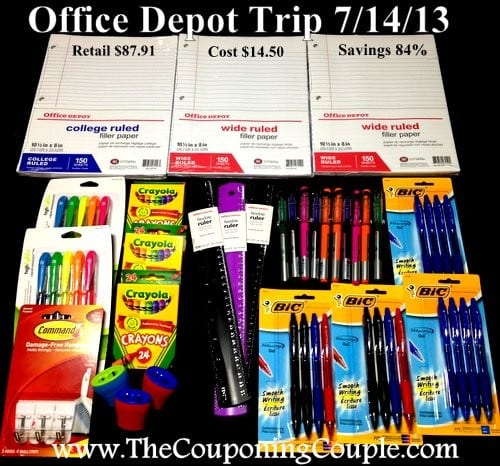 Office Depot Trip on 7-14