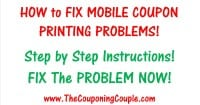 How to Fix Mobile Coupon Printing Problems