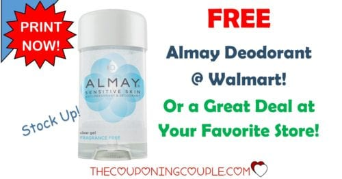 image about Almay Coupon Printable titled Free of charge* Almay Deodorant @ Walmart!