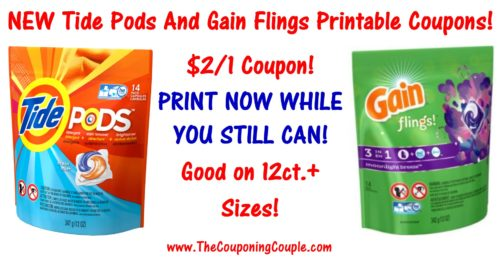image relating to Gain Printable Coupons named Fresh new Tide Pods Printable Coupon Financial gain Flings Printable