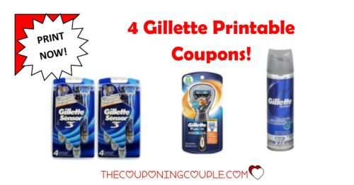 graphic about Gillette Fusion Coupons Printable titled 4 Gillette Printable Discount coupons Offered Presently ~ Print This kind of At present!