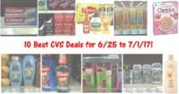 CVS HOT Deals List for 6-25-17
