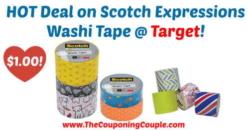 HOT Deal on Scotch Expressions Washi Tape