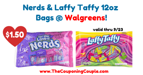 Nerds and Laffy Taffy Bags
