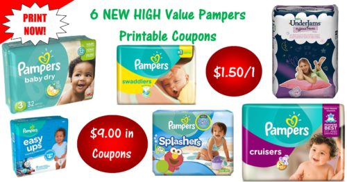photograph regarding Printable Pampers Coupons known as 6 Pampers Printable Discount codes ~ Print At this time! $9 inside of Cost savings!