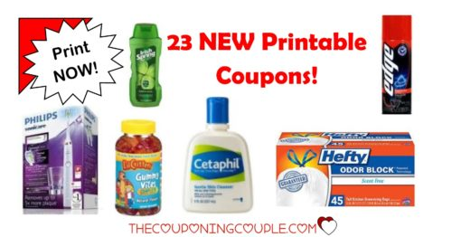 23 new printable coupons