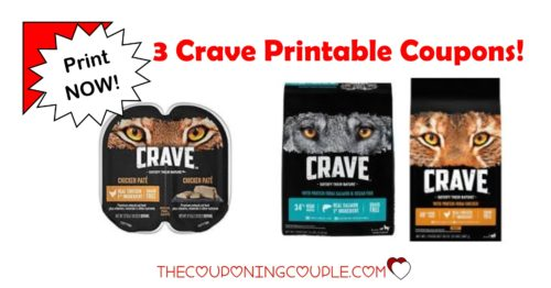photograph about Printable Pet Coupons identify 3 Crave Doggy Food items Printable Coupon codes ~ Pet and Cat Food stuff!