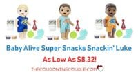 Baby Alive Super Snacks Snackin' Luke- As Low As $8.32!