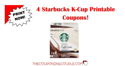 photo regarding Starbucks Printable Coupons identify 4 Contemporary Starbucks K-Cup Pods Printable Discount coupons ~ Conserve $7.75!