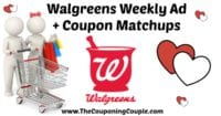 Walgreens Coupon Matchups for 1-7 to 1-13-18