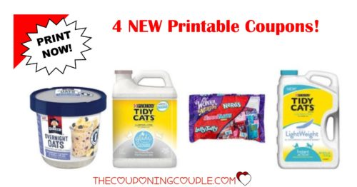 graphic relating to Tidy Cat Printable Coupons called 4 Fresh Printable Coupon codes ~ Quaker, SweeTarts Tidy Cats!