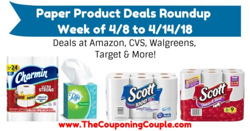 Paper Product Deals Roundup for the Week of 4-8