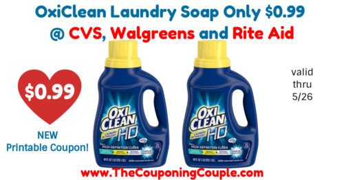 New Coupon Oxiclean Laundry Soap Only 0 99 Cvs