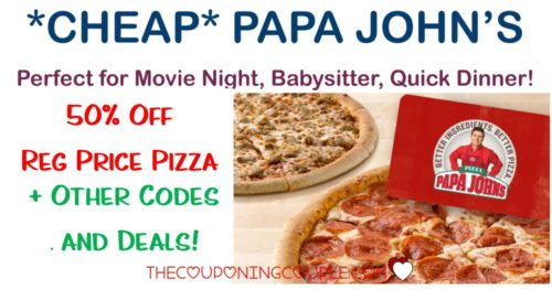 photo regarding Papa Johns Printable Coupons named Reasonably priced Papa Johns! BOGO Pizza! Incredibly hot Codes and Bargains!