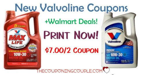 photograph about Valvoline Printable Coupon named Fresh new Valvoline Oil Coupon + Walmart Package!