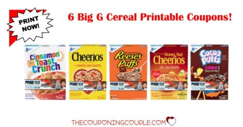 picture relating to Printable Cereal Coupons referred to as 6 Fresh new Huge G Cereal Printable Coupon codes ~ PRINT Presently!