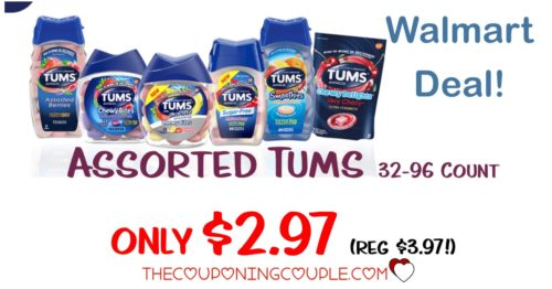 picture relating to Tums Coupon Printable identified as Refreshing COUPON! 32-96 Rely Tums Diversified Sorts - Basically $2.97