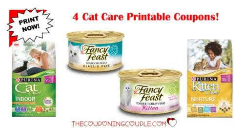 image regarding Fancy Feast Printable Coupons named 4 Cat Treatment Printable Discount coupons ~ Previously mentioned $4.25 within just Financial savings! Wonderful!