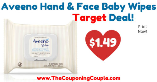 Nice Deal on Aveeno Baby Hand & Face Wipes