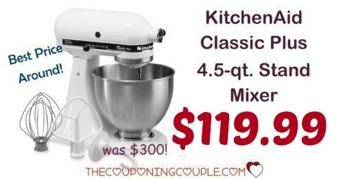 KitchenAid Classic Plus 4.5 Qt Stand Mixer - Only $119.99!