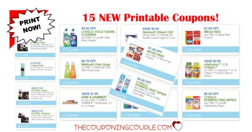 15 new printable coupons