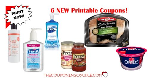 6 new printable coupons