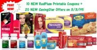 10 NEW RedPlum Printable Coupons