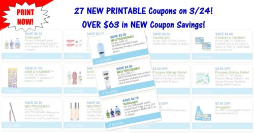 28 NEW Printable Coupons