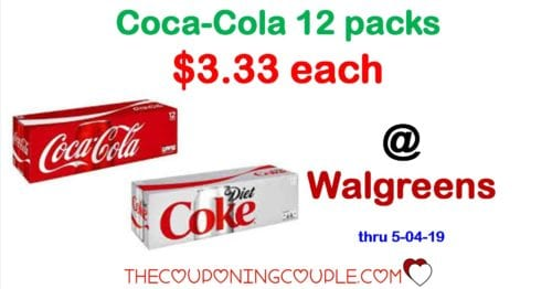 Coca-Cola packs ONLY $3.33