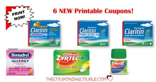 photo relating to Zyrtec Coupon Printable known as 6 Allergy Printable Discount coupons ~ $21 within just Cost savings! PRINT Already!
