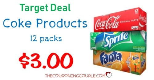 Stock Up! Coca Cola Products 12 Packs - Only $3 00 @ Target!