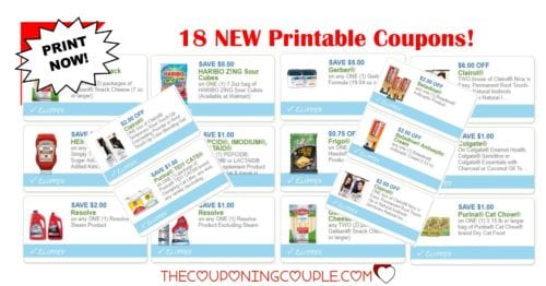 18 new printable coupons