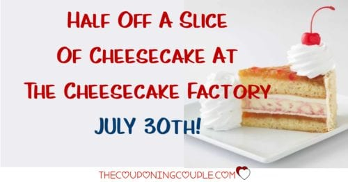 photo about Cheesecake Factory Coupons Printable referred to as The Cheesecake Manufacturing facility - 50 percent Off Your Favored Reduce - July