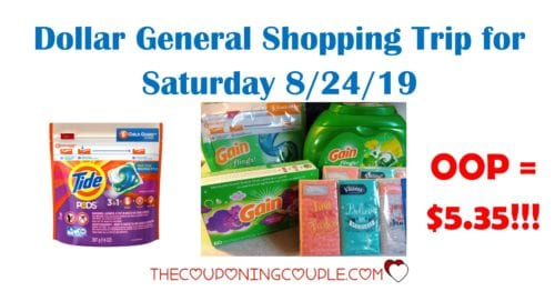 dollar general shopping trip saturday 8-24-19