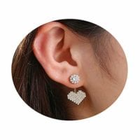 Cubic Zirconia Heart Stud Earrings $6.99 w/code + free shipping!