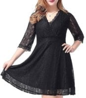 WOW! Plus Size Lace Dress with Pockets, $14.49 w/Code, Prime Shipping!