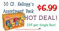 Kellogg's Breakfast Cereal Jumbo Assortment Pack- 30 Boxes -$6.99 ($0.23/box)